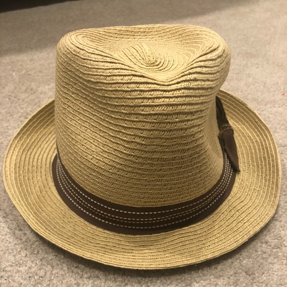ac8328955 D&Y Accessories | Straw Hat With Brown Polka Dot Ribbon | Poshmark